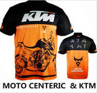 Wholesale Dh Cycling Jerseys - Brand-2016 MOTO GP KTM racing Motorcycle racing jersey short sleeves T shirt off road cycling downhill DH MX clothes Men's KTM Jersey