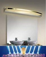 Discount bedroom dressing mirrors - AC110V 220V High Quality LED Mirror Lights Stainless Steel Bathroom Bedroom Dressing Wall Lamp LED Light 9W 12W 15W 24W MYY
