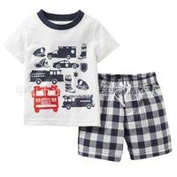 Wholesale Costume Pyjamas Kids - Summer Kids Cartoon Pajamas Sets Boys Gilrs Sleepwear Short Sleeve Pijamas Cotton Costume Children Nightdress Clothing Pyjamas