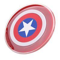 samsung cargador inalámbrico capitán américa al por mayor-2016 New Captain America iron man cargador inalámbrico cargador de carga para Apple android samsung S6 cargador de teléfono inalámbrico base