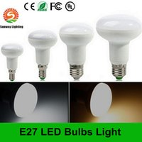 Wholesale Dimmable Led Dhl E27 - Wholesale E27 E26 LED Bulbs Dimmable 9W R80 LED Bulb AC 110V 180 Degree high bright Dhl free shipping