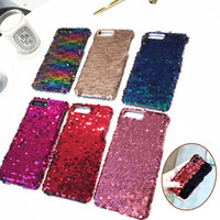 Wholesale Iphone Scales - for iPhone 8 X 7 Case Fashion Changing Colors Mermaid Glitter Scale Hard Cover for iPhone 7plus 6 6s 8 Plus Cases