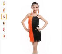 Wholesale Tutu Dancewear For Children - Latin Dance Dress For Girls Children Ballet Tutu Tassel Kids Dance Dresses Modern-Dance-Costumes-For-Kids Dancewear Dress For Kids