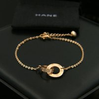 Wholesale Gold Titanium Anklet - Free shipping fashion women's delicate rose gold plated stainless steel daisy beads chain bracelets anklets