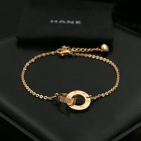 ingrosso catene di caviglia in acciaio inossidabile-Le cavigliere chain dei braccialetti della catena delle perle dell'acciaio inossidabile placcato oro rosa delicato libero di modo delle donne
