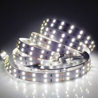 Doble Luz 12v Baratos-Ultra 5m 600 SMD 5630 LED Franja Doble fila 12V flexible 120 led / m LED cinta blanca / blanco caliente