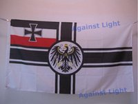 Wholesale German Flags - German Imperial Flag 90 x 150 cm Polyester WWI Germany War Ensign 1892-1903 Iron Cross Jack Banners