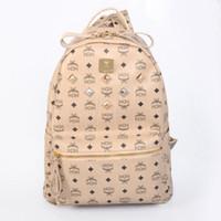 Wholesale Pink Leisure Coat - Fashion rivets leisure college shoulder bag print fashion travel bag coated canvas letter combination backpack shoulder bag
