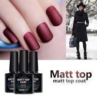 Wholesale uv gel matte coat - Matte Gel Nail Polish Top Coat DIY Nail Style Gel Polish Finish Nail Tips UV Matte Top Coat