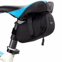 Wholesale Waterproof Key Pouch - Bike Saddle Seat Bag Bicycle Waterproof Key Phone Wallet Holder Bicycle Storage Saddle Bag Tail Rear Pouch Attached Lamp Belt