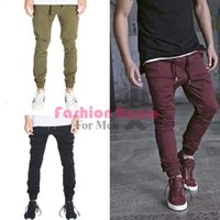 Wholesale Army Men Clothes - Wholesale-mens joggers casual cargo pants fashion men Jogger Pants men hip hop army urban clothes pants green ,black wine red trousers