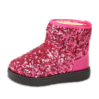 Wholesale Toddler Girls Fashion Boots - 2016 Winter Children Casual Shoes Baby Toddler Sequins Shoe Child Snow Boots Kids Boys Girls Boots Sneakers Brand infantil