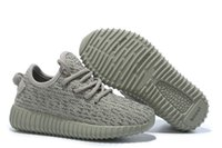 Wholesale top shop kids - Supply Drop Shopping Kids Hot Selling Kanye West 350 Boost Top Quality With Original Box Receipt Sneakers Youth Boots DHL Free Shipping