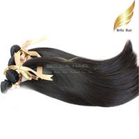 """Wholesale Mix Length Bella Hair - 8A 10""""-34""""100% Mongolian hair 3pcs lot Human Hair Weaves Straight DHL Free Shipping Natural Color Bella hair"""