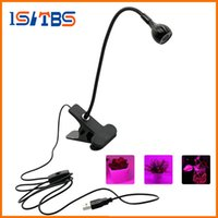 Wholesale Power Plant Supply - LED Grow Light with 360 Degrees Flexible Clip USB Power Supply Desktop LED Plant Growth Light.