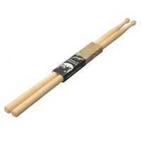 10pair / lot Professional Lightweight 7A Nylon y Maple Wood Band Music Drum Sticks Drums para Batería Kit