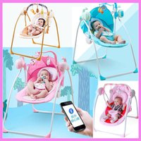 Wholesale Baby Bouncers - Bluetooth Remote Control Baby Toddler Swing Newborn Rocking Chair Recliner Swinging Lounge Chair Cradle Bouncer 0~3 Years