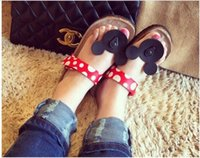 Wholesale Cartoon Slippers Women - Hot selling Casual Women Sandals Cartoon Mickey Mouse Slippers Cork Flats Summer Shoes Women Flip Flops