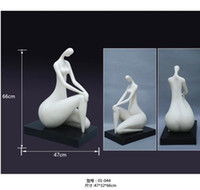 Wholesale Art Body Figure - Nude womam Silver plated female body resin sculpture Club Cafe Decoration crafts ornament abstract art figures