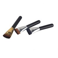 Wholesale brush for cream foundation for sale - Makeup Brushes Foundation Concealer Brush Cosmetic Single Universal Brush Wood Hand Makeup Tools for BB Cream silver gold tube