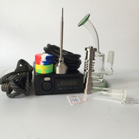 Wholesale Titanium Nail Vapor - E nail kit From G9 Electronic eNail Temperature Controller Box For DIY Smoke Coil with Titanium Nail with Glass Bong Vapor Wax Herb