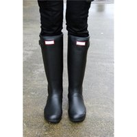 Wholesale Low High Heels Shoes - Womens Rainshoes Wellies Wellingtons Wellington Rain Boot Welly Waterproof Knee Boots Rainboots Rain Boots Glossy Matte Shoes Galoshes