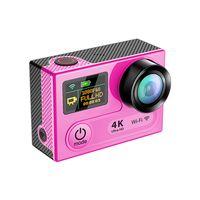 жк-экран для камеры шлема оптовых-32GB 360VR действий камеры 4K 30fps WiFi двойной экран 2.0 + 0.95 LCD 16MP дайвинг DVR шлем видеокамеры действий спорт DV DV32
