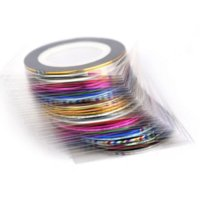 Wholesale Tape Nail Art Designs - 39colors Metallic Yarn Line Rolls Striping Tape Nail Stickers Decoration,500pcs lot Mixed Design DIY Gel Nail Art Beauty Tools