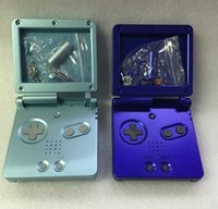 Wholesale Gba Sp Repair - Full Housing Shell Case cover for Nintendo GBA SP Replacement Case Shell Repair parts DHL FEDEX EMS FREE SHIPPING