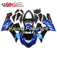 Candy Blue Black Injection ABS Plastic Motorcycle Full Fairings Kit Para Kawasaki ZX6R ZX-6R Ninja 636 05 06 Ano 2005 2006 Carroçaria