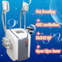 Wholesale Medical Radio - 4 IN 1 Multi-Functional Beauty slimming machine Ultrasonic Cavitation fat freezing Radio Frequency Vacuum RF Lipo Laser Slimming Machine