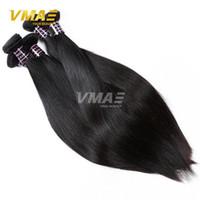 iyi örgü toptan satış-İyi Ucuz Bakire 10 Demetleri Brezilyalı Düz Saç Dokuma% 100% İnsan Saç Işlenmemiş Bakire Düz Saç Örgü Demetleri