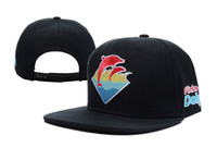 Wholesale Pink Dolphin Snapback For Men - wholesale and retail Pink Dolphin Snapbacks Caps Flat Hip Hop Cap Adjustable Baseball Hat For Men and women Snapback