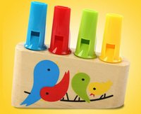 Wholesale Special Whistle - 2016 Special Offer Kind High Quality Wooden Bird Whistles Child Playing Musical Toys Rainbow Row Flute Infant