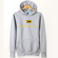 Wholesale Olympic Countries - Zimbabwe flag hoodies Country Olympics team sweat shirts Fleece clothing Pullover coat Outdoor sport jacket Brushed sweatshirts