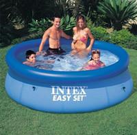 pool großhandel-Aufblasbares Swimmingpool-Sommer-im Freien spielt Spielzeugspiel für 1-5 Personen Erwachsener und Kinder PVC mit elektrischer Luftpumpe
