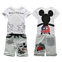 Wholesale Short Leggings Children - 2016 new t shirt leggings pants baby kids suits 2 pcs fashion Boys clothing sets children clothes tops suit Clothing Sets