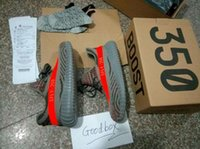 (Double boîte) Meilleur 350 Boost V2 boost SPLY Beluga Gris Red Sneakers Chaussures de formation Kanye west 350 V2 Top Quality (Socks + Sac + Réception + Boxes)
