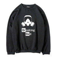 Wholesale Breaking Bad Hoodies - Men's winter sweatshirt cotton blend thick warm men sweatshirts casual Fleece fabric breaking bad heisenberg o-neck men hoodies