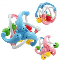 Wholesale hot Baby Toy Fun Little Loud Jingle Ball Baby ball toy rattles Develop Baby Intelligence Baby Grasping toy Train Grasp ability