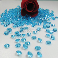 Wholesale Wholesalers For Wedding Confetti - 1000pcs 6.5mm 1Carat Acrylic Crystal Diamond Confetti for Wedding Event Party Table Vase Decoration