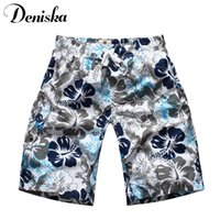 Wholesale Drawing Board Black White - Wholesale-2016 summer men's casual shorts floral printed fashion trend beach shorts draw string surf board beach wear man