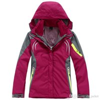 Wholesale Woman Orange Ski Jacket - Fashion Womens Warm Ski Clothes Sweatshirt Coat SoftShell Clothing Waterproof Windproof Breathable Wicking Camping Hiking Jackets Down S-4XL