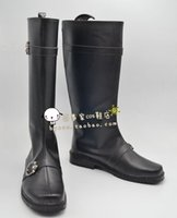 Wholesale Gintoki Cosplay Costume - Wholesale-GINTAMA Sakata Gintoki black ver Cosplay Boots shoes shoe boot #NC304 anime Halloween Christmas