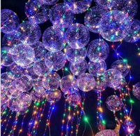 Wholesale Light Up Christmas Ornaments - Light Up Toys LED String Lights Flasher Lighting Balloon wave Ball 18inch Helium Balloons Christmas Halloween Decoration Toys