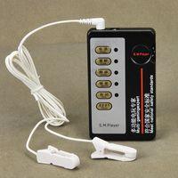 elektrik çarpması masaj terapisi toptan satış-Ev Terapi Ekipmanı Meme Kelepçeleri Elektrik Çarpması Nipeller Klipler Kadınlar için Set Kadın Meme Masaj Darbe Fiziksel Terapi Oyuncak I9-1-11