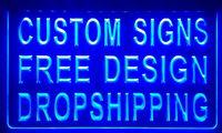 Wholesale Wedding Owns - LS001-b design your own custom Light sign hang sign home decor shop sign home decor.jpg