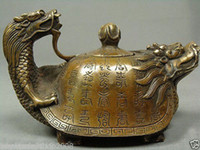 viejas ollas de té al por mayor-CHINO ANTIGUO COPO HANDWORK DRAGON TEA POT