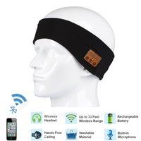 Wholesale Electronic Hat - New Arrive Outdoor Sport Wireless Bluetooth Magic Music Headband Headwear Hat Smart Electronics Earphone Music Hat for SmartPhone Music Cap