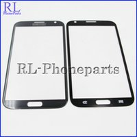 Wholesale S3 Glass Grey - 10pcs lot (pebble grey&gray) Front Digitizer Screen Lens Outer Glass For Samsung Galaxy Note2 Note 2 N7100 N7105 i317 T889 I605 + logo